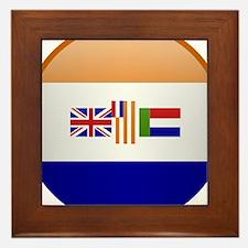 SA republic button Framed Tile
