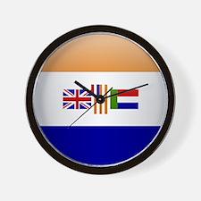 SA republic button Wall Clock
