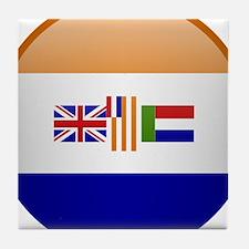 SA republic button Tile Coaster