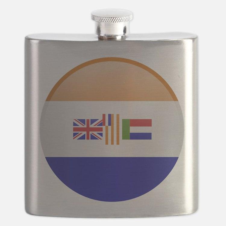SA republic button Flask