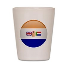 SA republic button Shot Glass