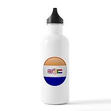 SA republic button Water Bottle