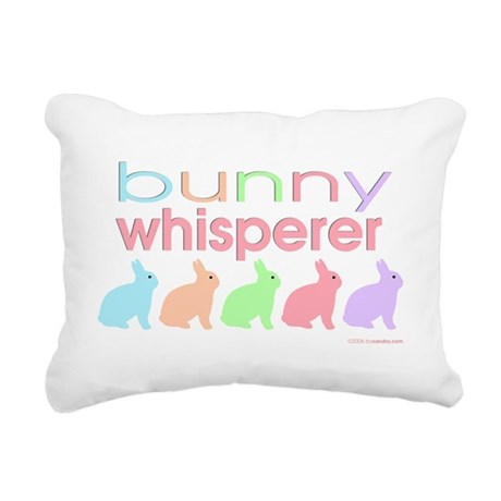 Bunny Whisperer Rectangular Canvas Pillow