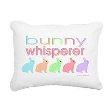 Bunny Whisperer Rectangular Canvas Pillow