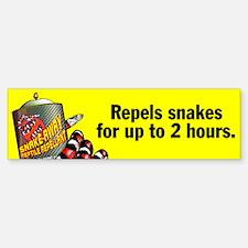 Snake Repellant Ad Bumper Bumper Bumper Sticker