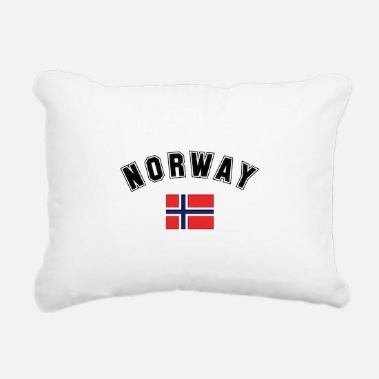 Norwegian Flag Rectangular Canvas Pillow