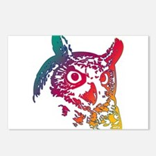 Colorful Owl Postcards (Package of 8)