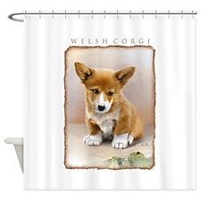 Corgi-valp10x.png Shower Curtain