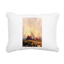Monument Valley Storm Rectangular Canvas Pillow