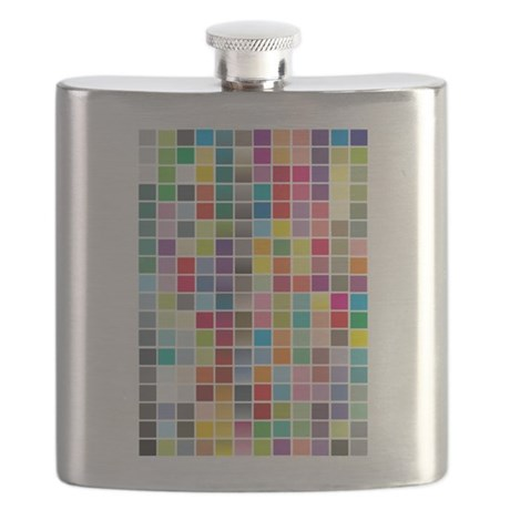 Color Squares Flask