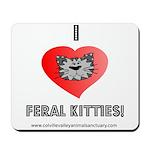 CVAS I Heart Feral Kitties Mousepad
