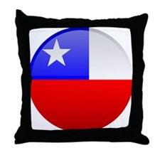 Chile Button Throw Pillow