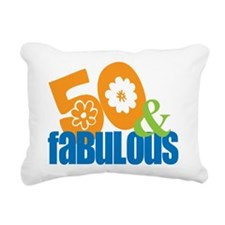50th birthday & fabulous Rectangular Canvas Pillow