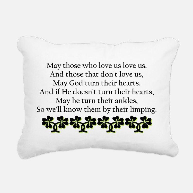 Irish Blessing? Rectangular Canvas Pillow