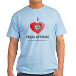 CVAS I Heart Feral Kitties (Light) T-Shirt