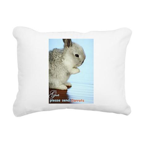 Baby Bunny Rectangular Canvas Pillow