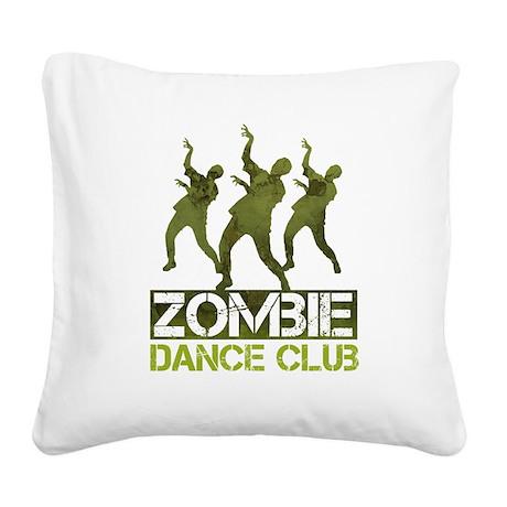 Zombie Dance Club Square Canvas Pillow