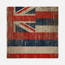 Vintage Hawaii Flag Queen Duvet