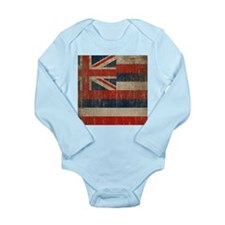Vintage Hawaii Flag Long Sleeve Infant Bodysuit