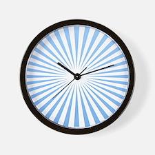 Blue Rays Wall Clock