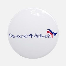 Democrats 4 Arithmetic Ornament (Round)