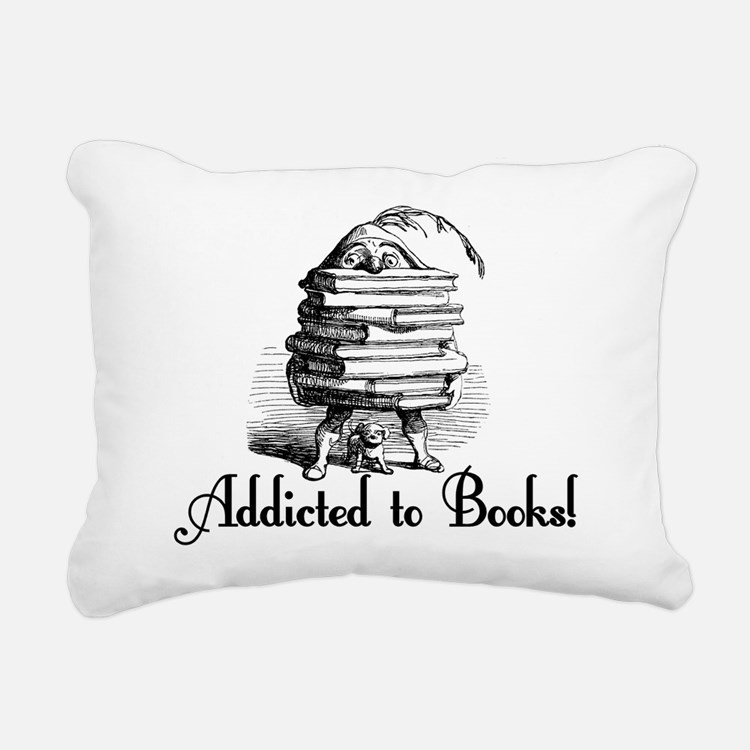 Addicted to Books! Rectangular Canvas Pillow