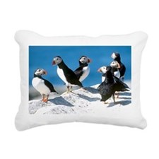 Puffins Rectangular Canvas Pillow