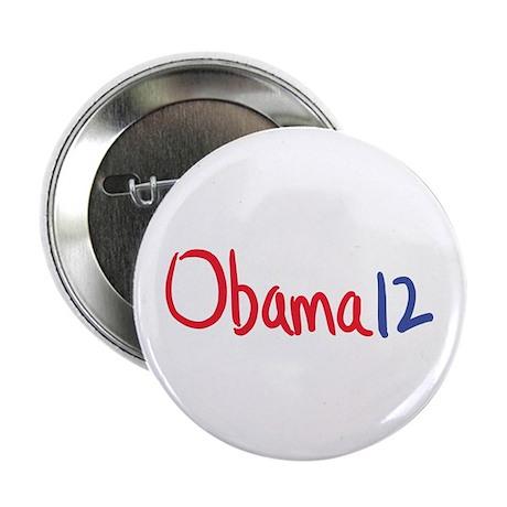 """Vote, elect Obama 12 2.25"""" Button"""