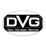 DVG Logo (Black) Sticker (Oval)