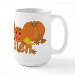 Halloween Pumpkin Ellen Large Mug