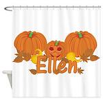 Halloween Pumpkin Ellen Shower Curtain
