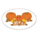 Halloween Pumpkin Ellen Sticker (Oval)