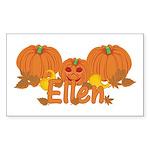 Halloween Pumpkin Ellen Sticker (Rectangle)