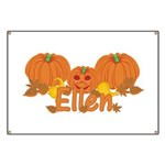 Halloween Pumpkin Ellen Banner