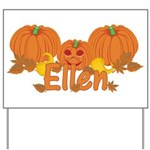 Halloween Pumpkin Ellen Yard Sign