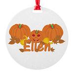 Halloween Pumpkin Ellen Round Ornament