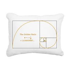 Golden Section - squares Rectangular Canvas Pillow