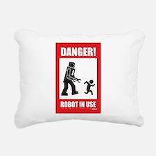Funny Robots Rectangular Canvas Pillow
