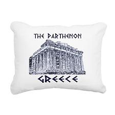 Parthenon Athens Rectangular Canvas Pillow