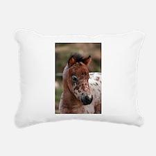 """""""Knabstrup foal 1"""" Rectangular Canvas Pillow"""