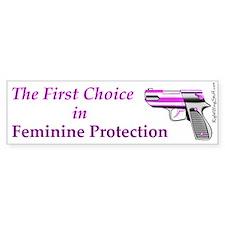 Feminine Protection Bumper Bumper Sticker