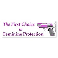 Feminine Protection Bumper Car Sticker