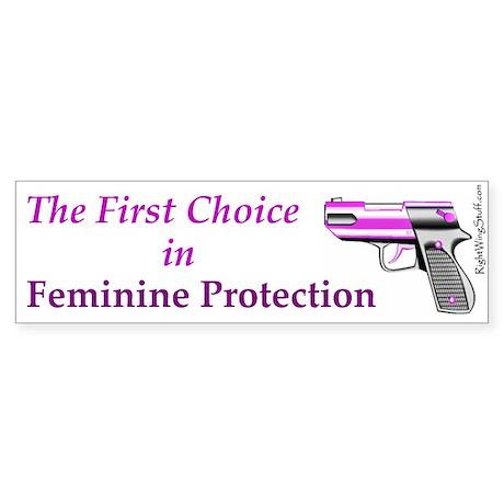 Feminine Protection Bumper Sticker