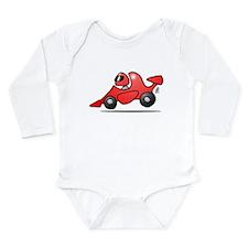 Red race car Long Sleeve Infant Bodysuit