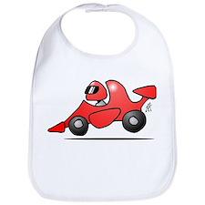 Red race car Bib