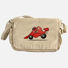 Red race car Messenger Bag