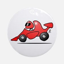 Red race car Ornament (Round)