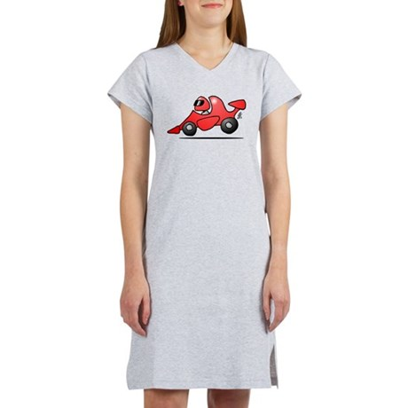 Red race car Women's Nightshirt