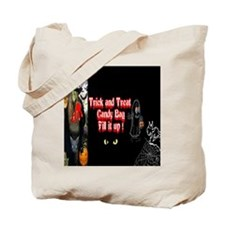 Halloween Witch Trick and Treat Tote Bag