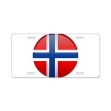 Norway Button Aluminum License Plate